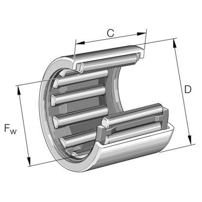 Роликоподшипники игольчатые с одним наружным штампованным кольцом
