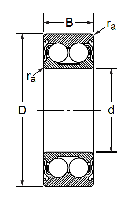 Радиально-упорный двухрядный шариковый подшипник 3056312 3312 ATN