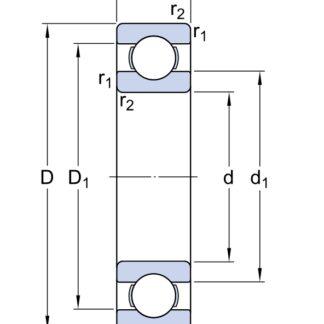 Однорядный шариковый подшипник 6413/C3 76-413