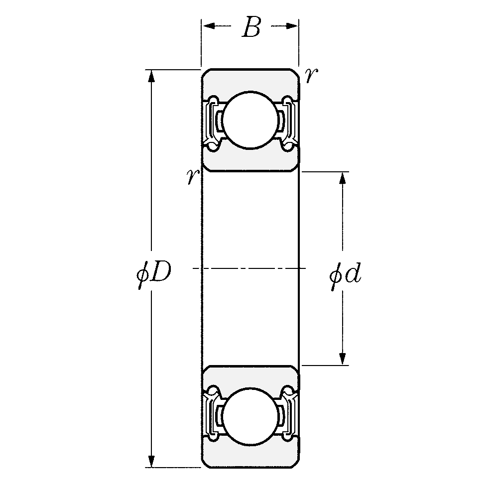 Однорядный шариковый подшипник 6017 LLU CM