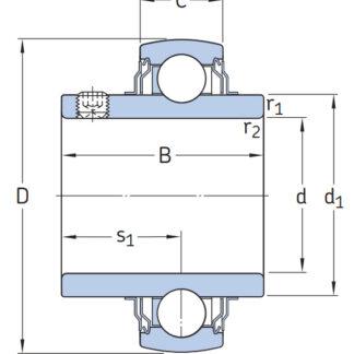 Высокотемпературный подшипник YAR 208-2FW/VA201