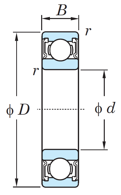 Однорядный шариковый подшипник 6311 2RS CM
