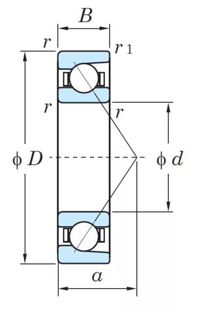 Радиально-упорный однорядный шариковый подшипник 46226 Л 7226 ACМ