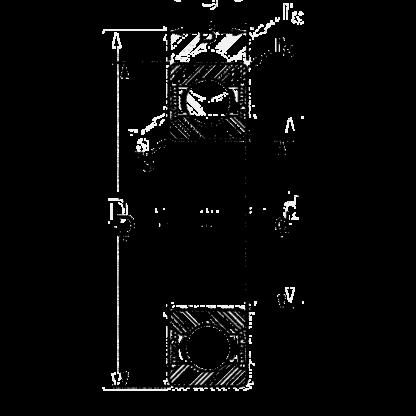 Радиальный однорядный шариковый подшипник GW 211 PP 25