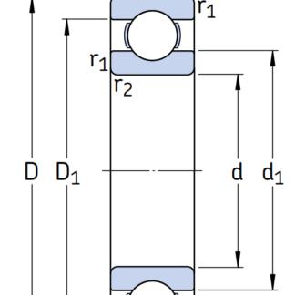 Однорядный шариковый подшипник 6220/C3VL0241