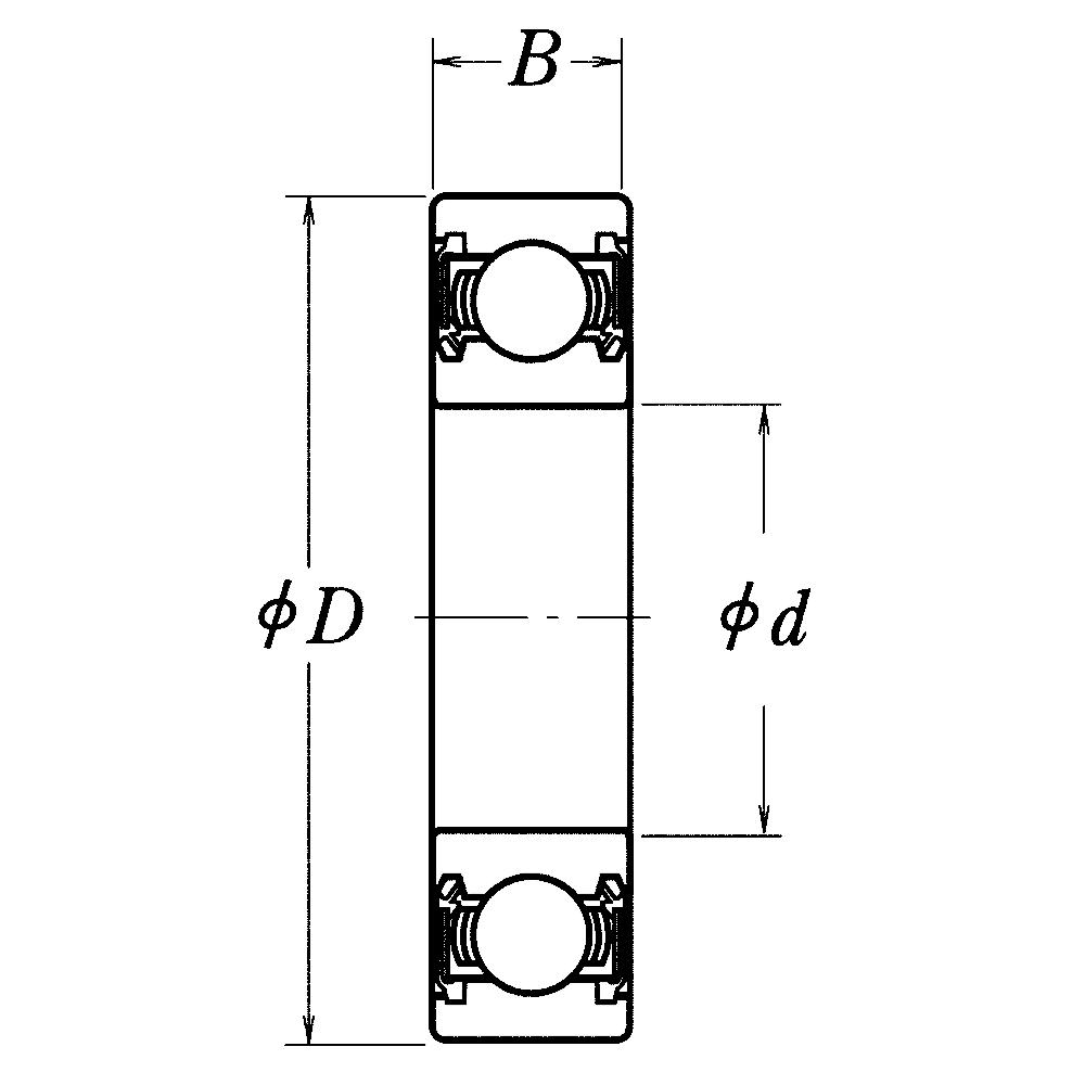 Однорядный шариковый подшипник 6017 DDU CM