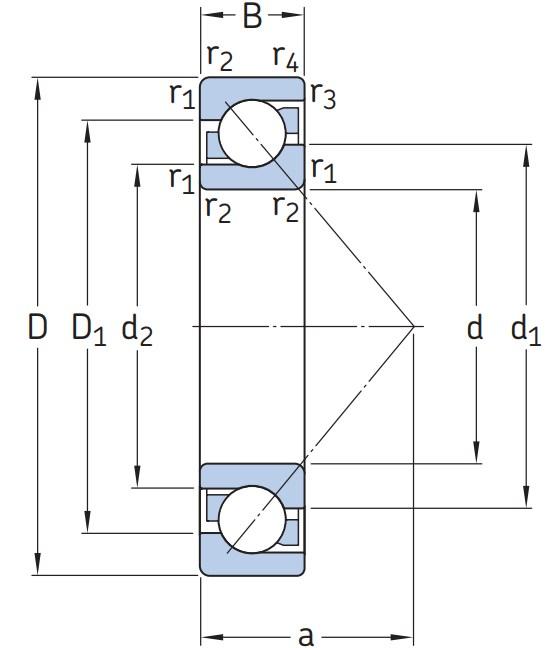 Однорядный шариковый подшипник 7312 BEGBM