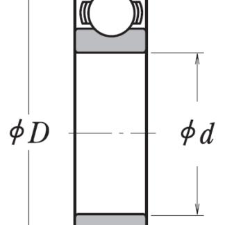 Однорядный шариковый подшипник 6311 NR