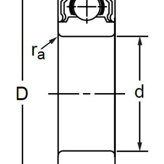 Однорядный шариковый подшипник 180212 Ю SS 6212 2RS