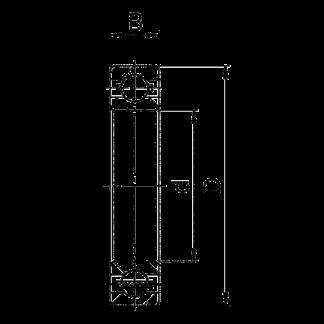 Однорядный шариковый подшипник 6215 M C3