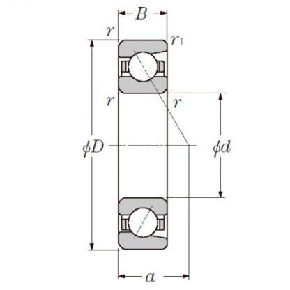 Радиально-упорный однорядный шариковый подшипник 36217 Л 7217 CM