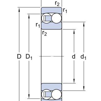 Самоустанавливающийся шариковый подшипник 1309 EKTN9/C3