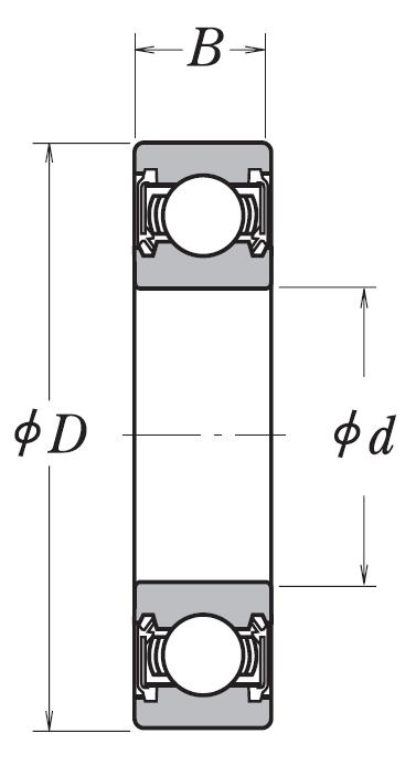 Однорядный шариковый подшипник 6021 DDU