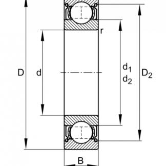 Радиальный однорядный подшипник из нержавеющей стали W 6303 2RS1