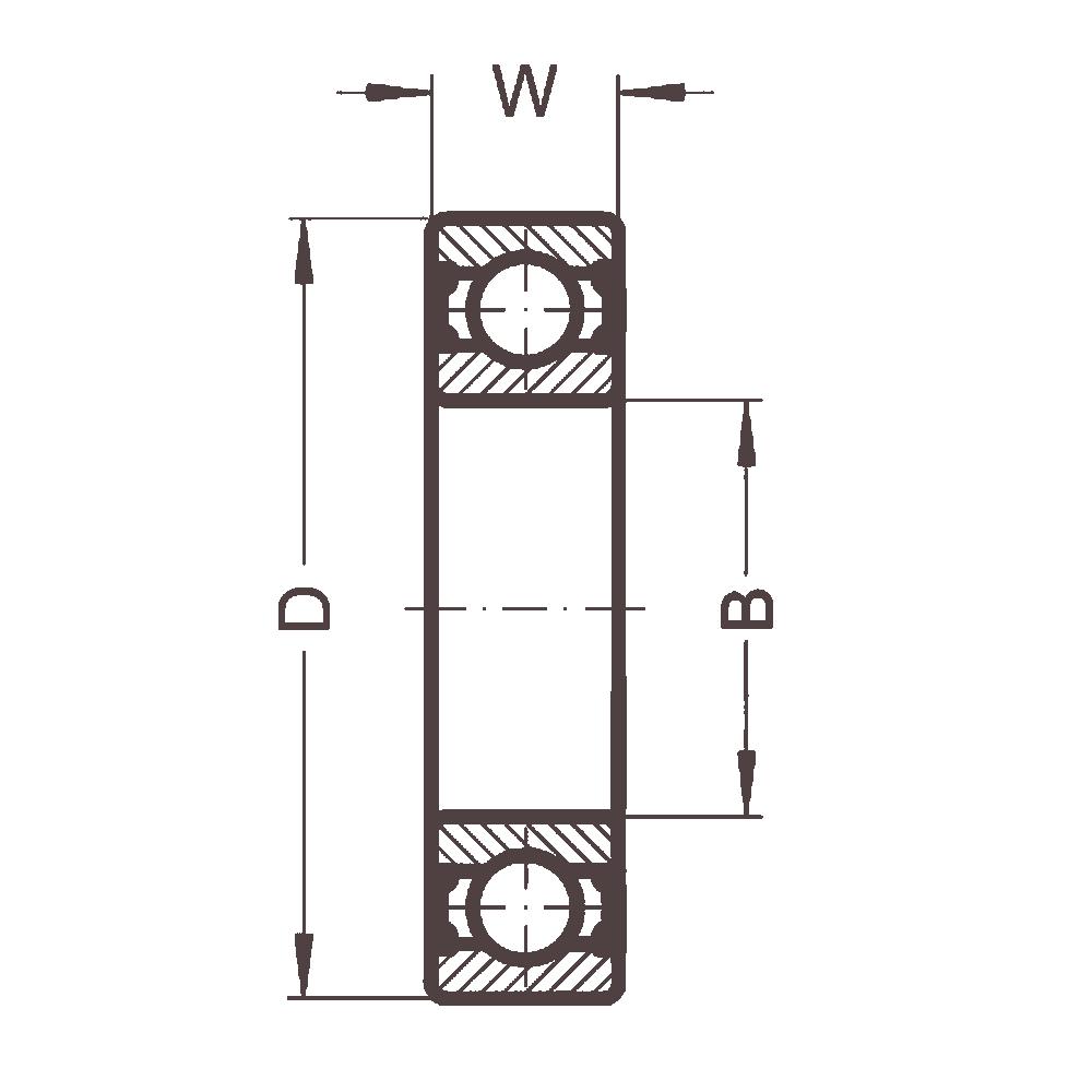 Высокотемпературный подшипник 6008 BHTS ZZ 280° BECO