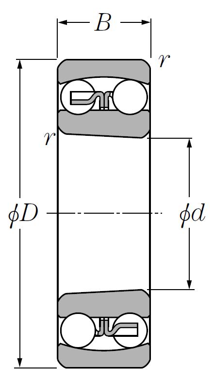 Двухрядный шариковый подшипник 6-1310 Л