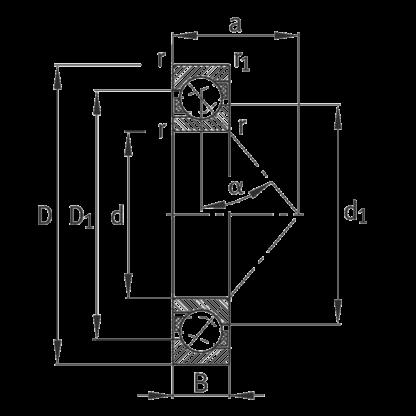Однорядный шариковый подшипник 7305 B-XL-TVP-UO