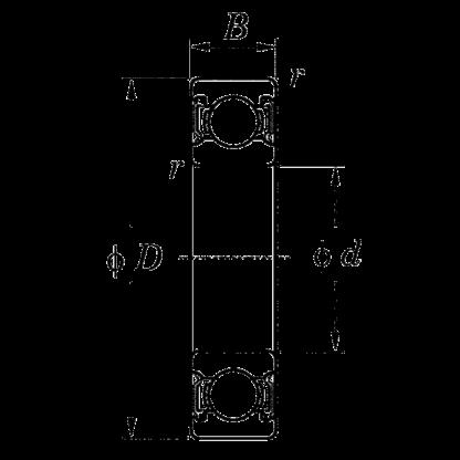 Однорядный шариковый подшипник 6016 ZZ/5K