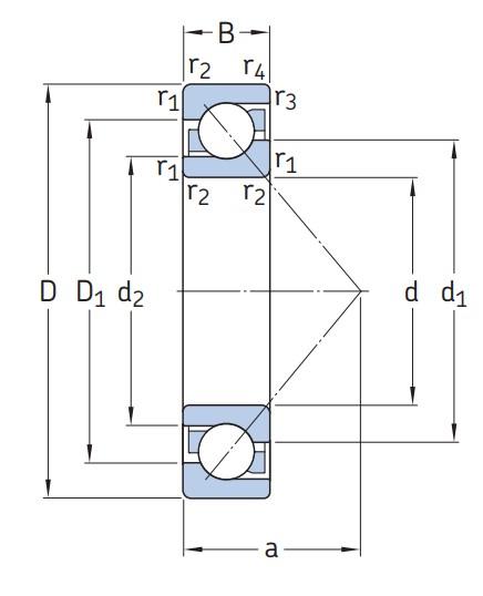 Однорядный шариковый подшипник 7313 BECBM