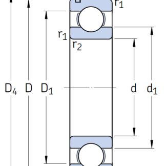Однорядный шариковый подшипник 6310 NR/C3