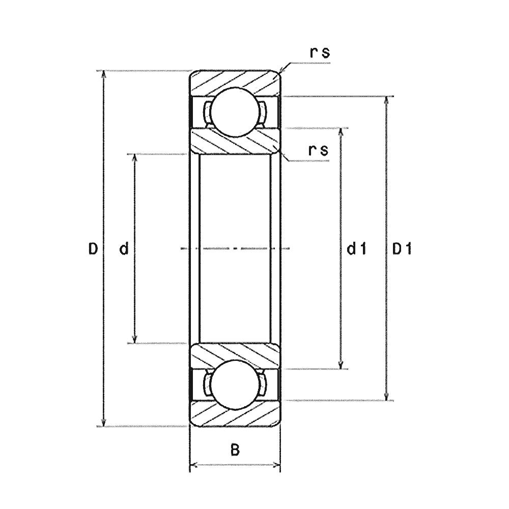 Высокотемпературный шариковый подшипник 6207/VA201