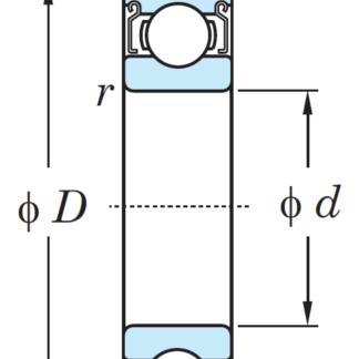 Однорядный шариковый подшипник 6408 ZZ