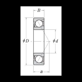 Радиально-упорный однорядный шариковый подшипник 66410 7410 B