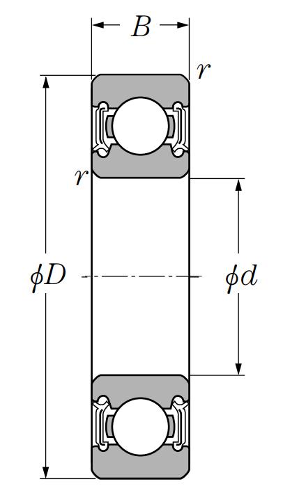 Однорядный шариковый подшипник 6026 LLU C3