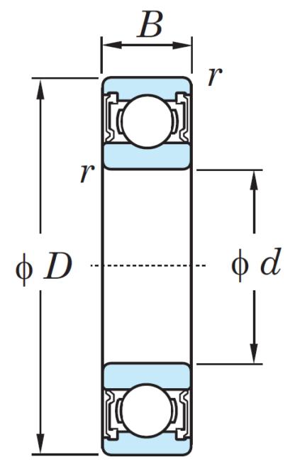 Однорядный шариковый подшипник 6917 LLU/2AS