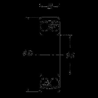 Самоустонавливающийся двухрядный шариковые подшипник 1316