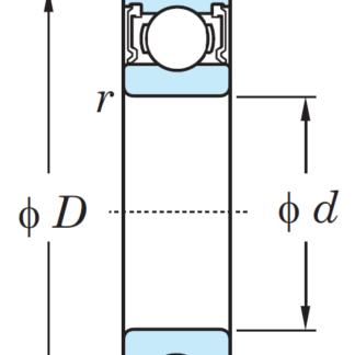 Однорядный шариковый подшипник 6818 LLU