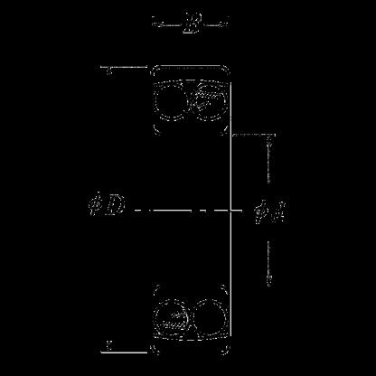 Двухрядный шариковый подшипник 2301 S