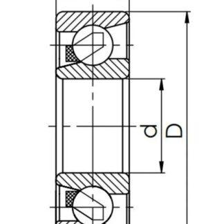 Радиально-упорный однорядный шариковый подшипник 46120 Е 7020 AC