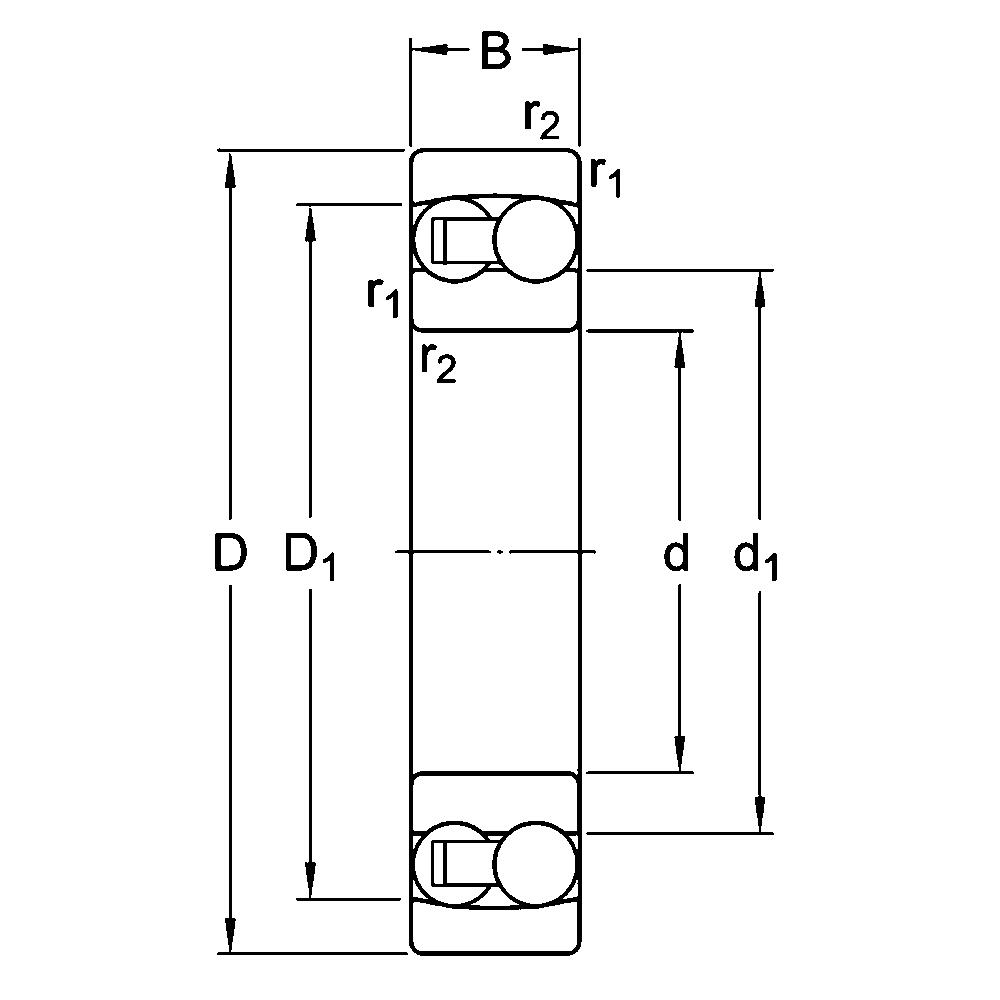 Двухрядный шариковый подшипник 2305 M C3/R851