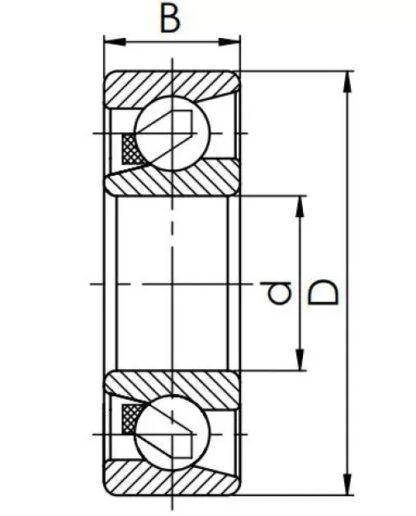 Радиально-упорный шариковый подшипник 46316 A