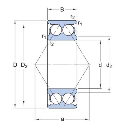 Радиально-упорный шариковый подшипник 3205 A/C3