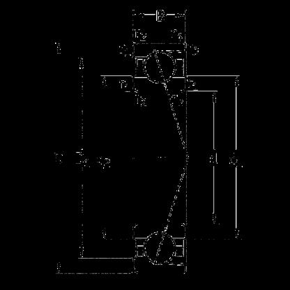 Упорно-радиальный подшипник 7002 CE/HCP4A