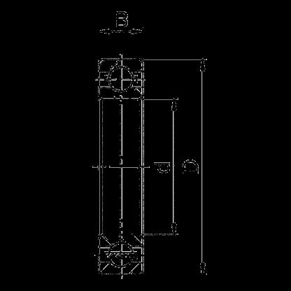 Однорядный шариковый подшипник 6030 M 130 Л