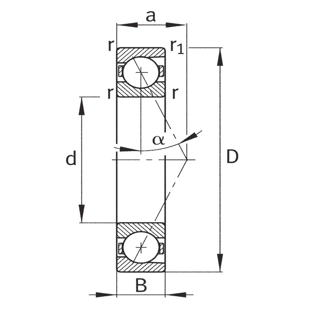 Сверхточный подшипник HCB 7202-C-T-P4S-UL