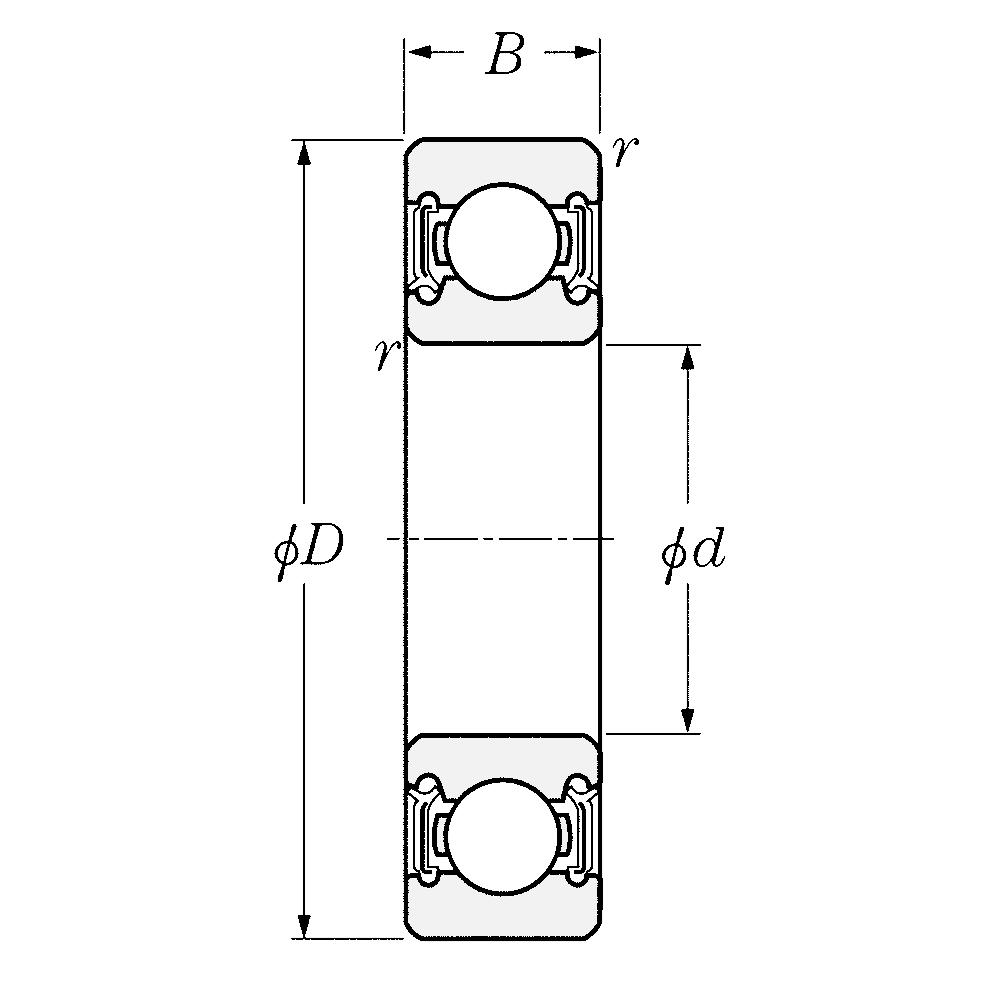 Однорядный шариковый подшипник 6016 LLU CM