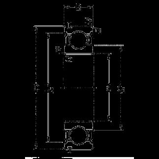 Однорядный шариковый подшипник 6012 LLU NR/2AS