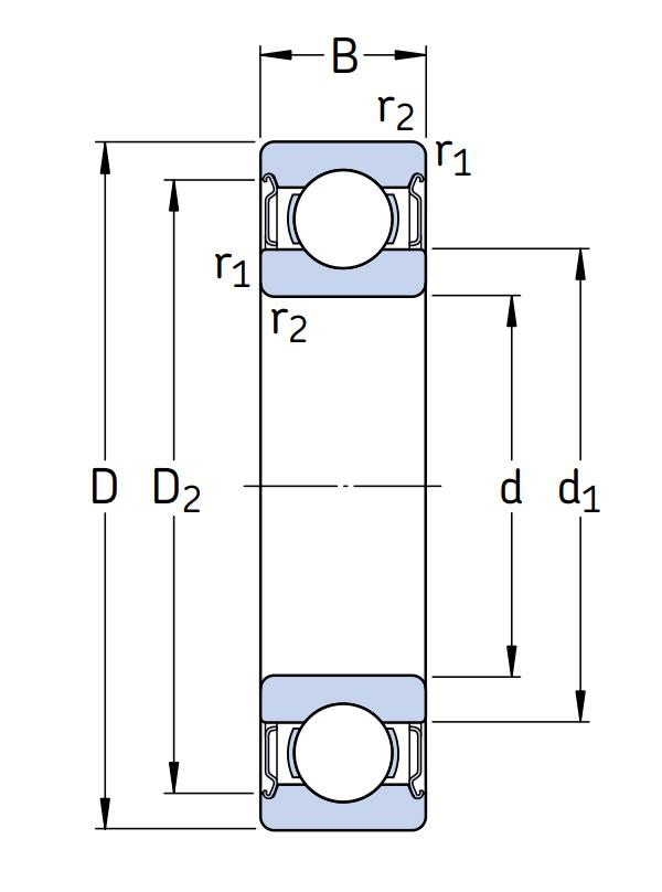 Высокотемпературный подшипник 6014 2Z/C3 GJN