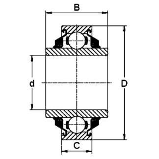 Подшипники с квадратным отверстием W 210 PP2