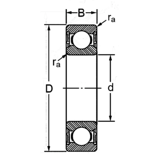 Однорядный шариковый подшипник 6218 2RSC3 76-180218