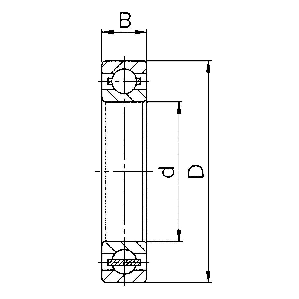 Однорядный шариковый подшипник 6832 M 1000832 Л