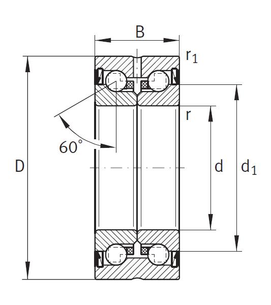 Сверхточный подшипник ZKLN 4090-2RS-XL