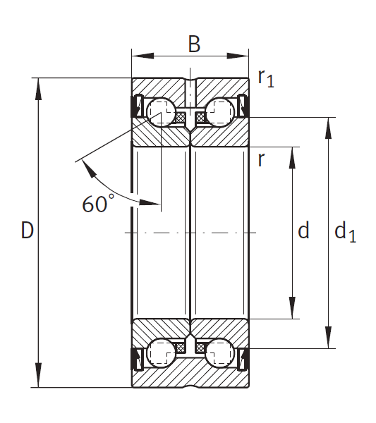 Сверхточный подшипник DKLFA 30100-2RS