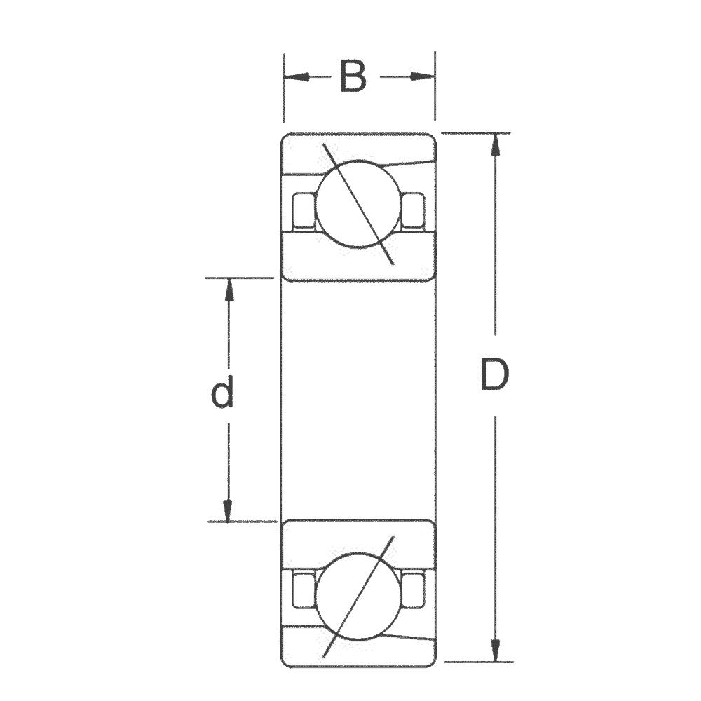 Сверхточный подшипник B 7009 CTP4SUL