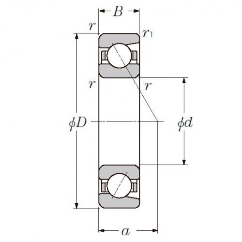 Радиально-упорный однорядный шариковый подшипник 36219 Л 7219 CM