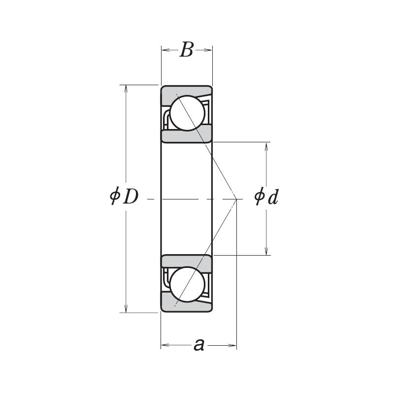 Радиально-упорный однорядный шариковый подшипник 46115 Л 7015 ACМ